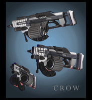 3d crow machine gun model